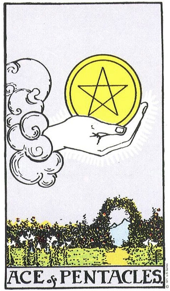 Pentacles, or coins means wealth because, why not?