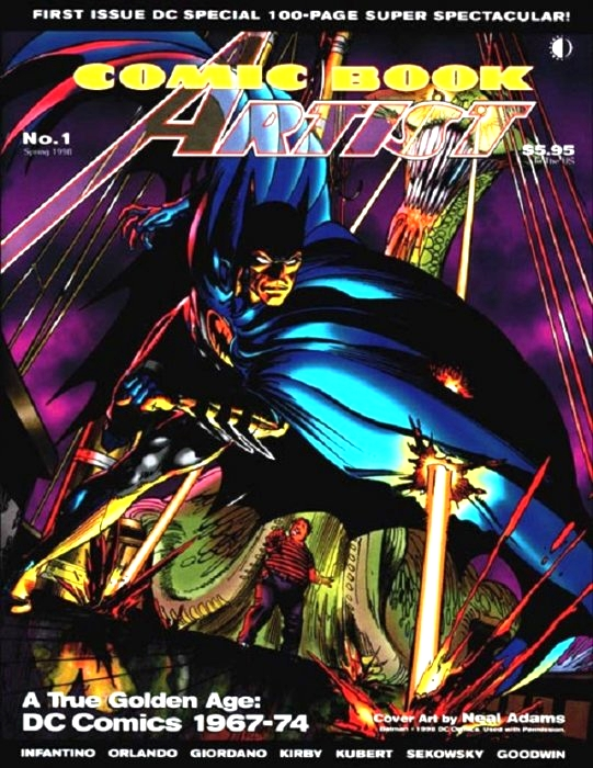 The offending magazine itself: Comic Book Artist #1! Super collectors item!