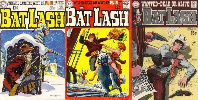 Three classic Nick Cardy Bat Lash covers