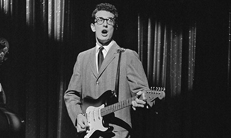 Yep, the real Buddy Holly, on his second (and last) appearance on the Ed Sullivan Show