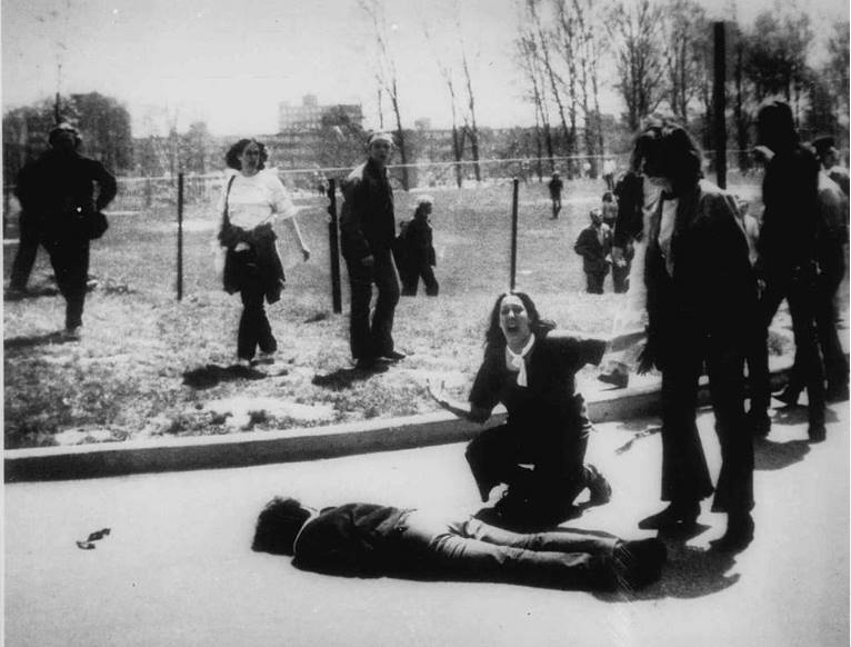 The photo: John Filo's Pulitzer Prize-winning photograph of Mary Ann Vecchio, a 14-year-old runaway kneeling over the body of Jeffrey Miller minutes after he was shot by the Ohio National Guard.