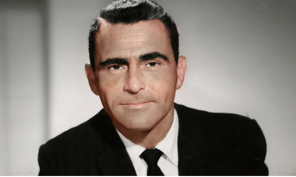 Rod Serling during the Twilight Zone heyday. This is colorized, of course. I actually like the older photos with the longer hair and craggy face, but this is good.