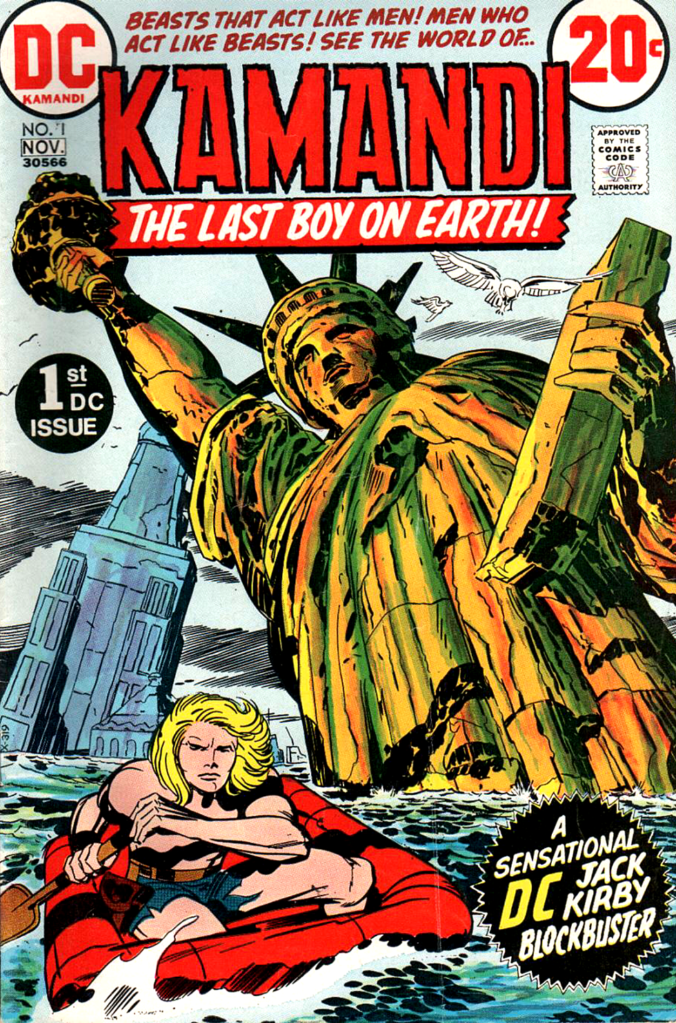 Kamandi No. 1, cover by Jack Kirby and inked by Mike Royer. The start of Kirby's longest running 70s title.