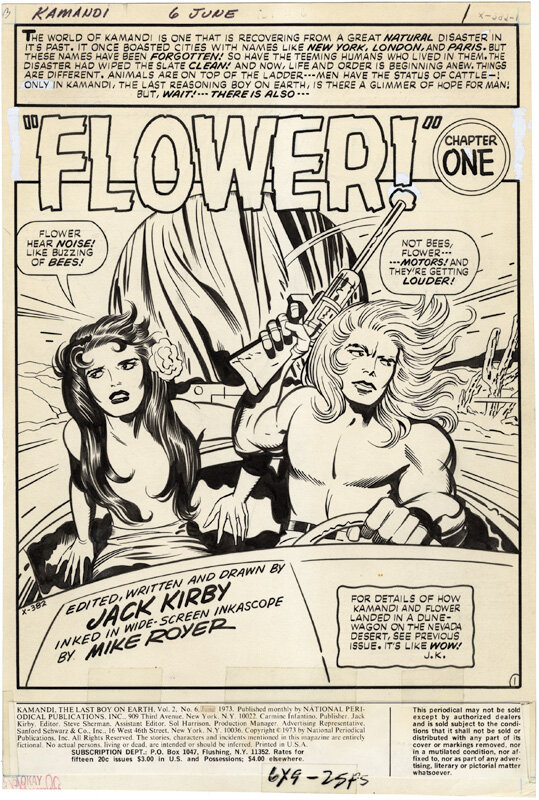 Kamandi meets a friend, Flower. Flower's superpower seemed to be keeping her hair covering her breasts.