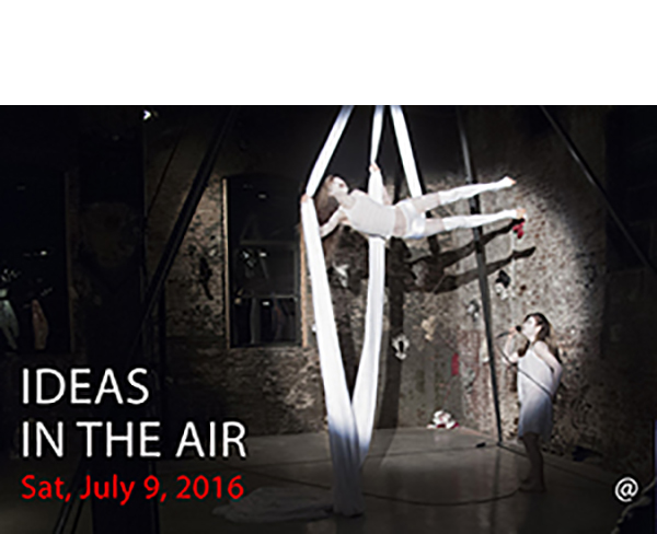 IDEAS IN THE AIR - Saturday, July 9, 20167 pm @ Last Frontier NYCIN THE AIR is a multidisciplinary collaboration between visual artists Sol Kjøk & Peter Max-Jakobsen and performance artists Katy Gunn & Autumn Kioti. In connection with the second chapter of this ongoing international series, IN THE AIR: New York at Denise Bibro Fine Arts in Chelsea, NYC, June 2-July 2, 2016, the artist group reached out to the scientist, educator, activist, and author Fritjof Capra, whose fundamental philosophical-scientific tenet that everything is interconnected reflects the essence of their artwork.During Capra's residency at the international artists' collective Mothership.NYC, creative minds across several fields came together at Last Frontier NYC in Greenpoint, Brooklyn for a special evening of sharing and exchange of ideas around this topic.