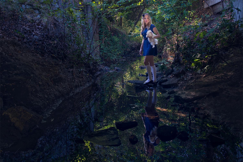 Alice found the white rabbit // Ashley Petersen Photography