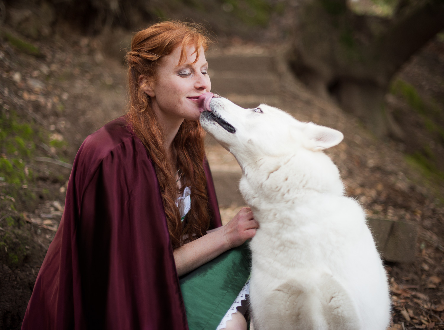 Red riding hood and the wolf // Conceptual Portraiture // Ashley Petersen Photo