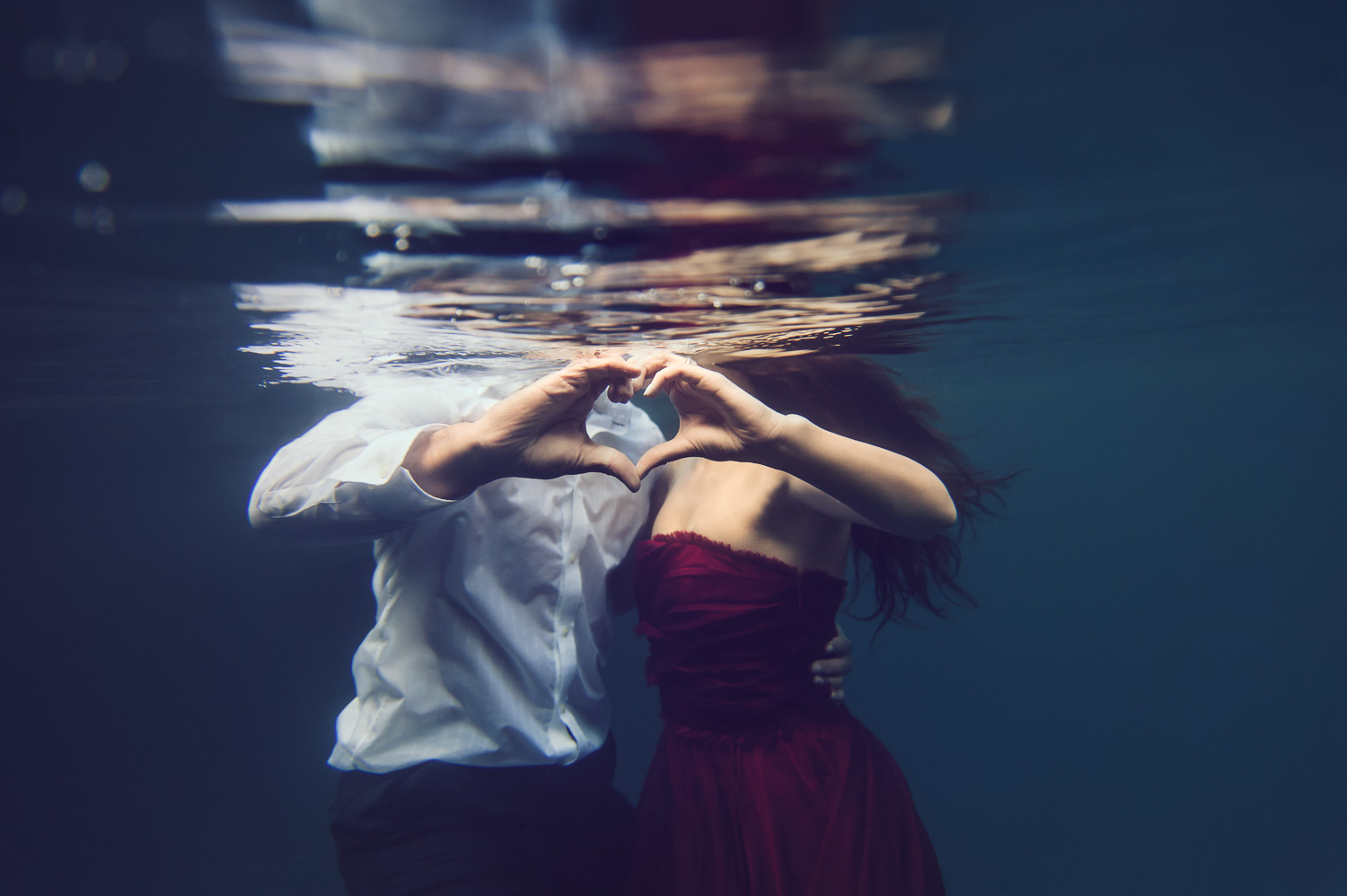 Underwater Engagement // Ashley Petersen Photo