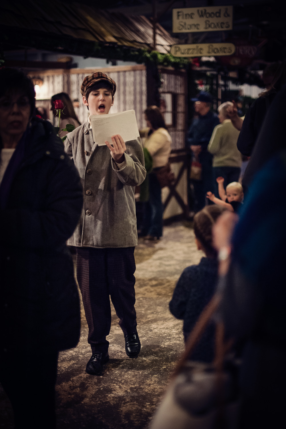 Telegram at Great Dickens Christmas Fair // Ashley Petersen Photo