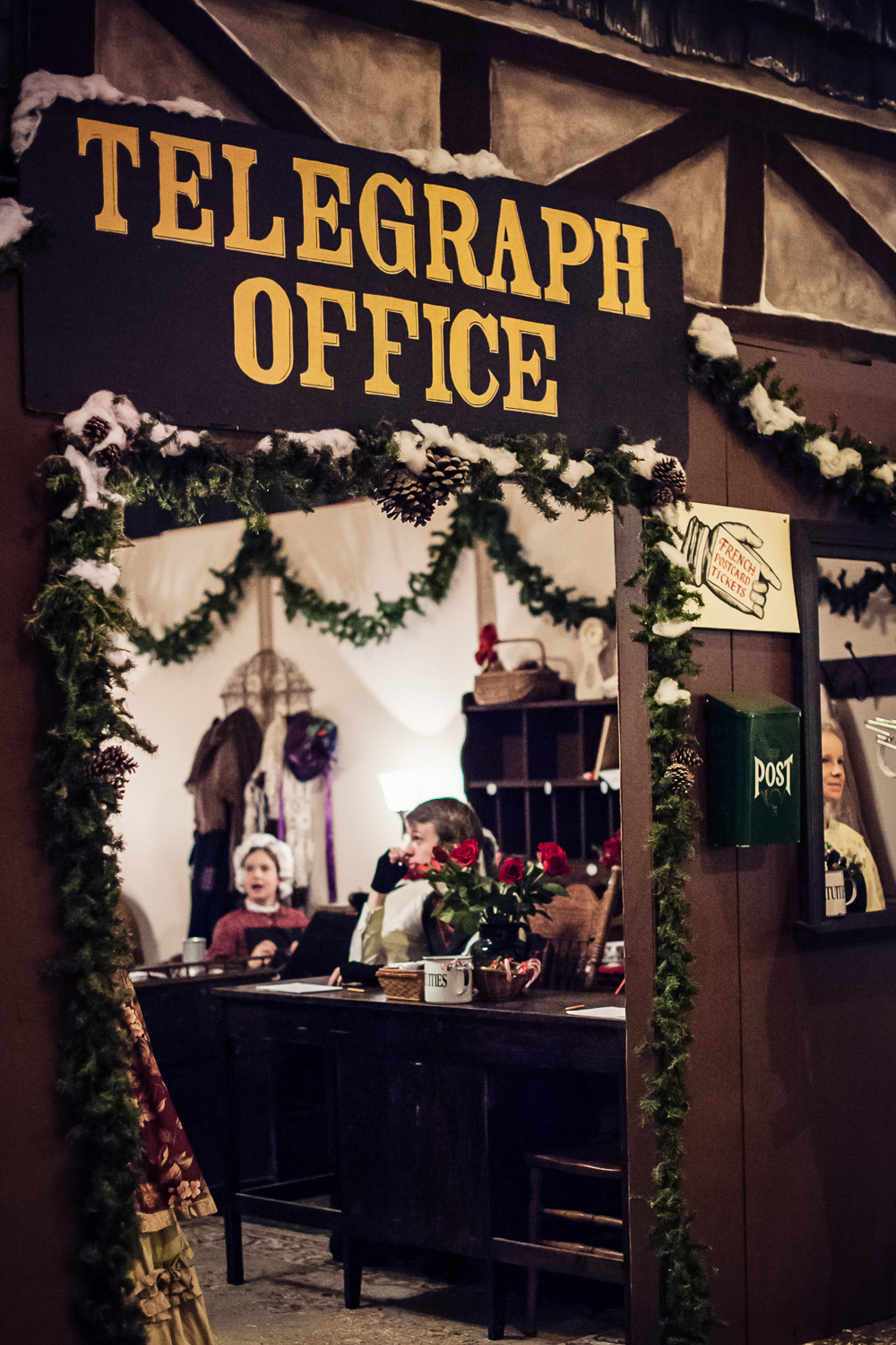 Telegraph Office at Great Dickens Christmas Fair // Ashley Petersen Photo