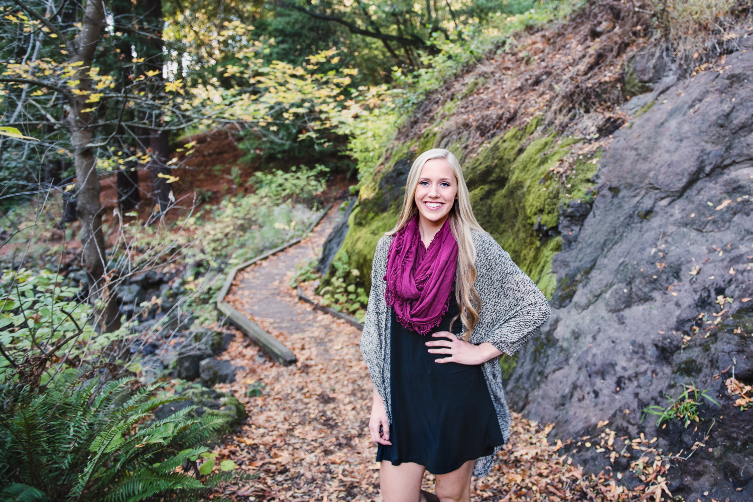 Senior Fall Portrait at Tilden Botanical Garden // Ashley Petersen Photo