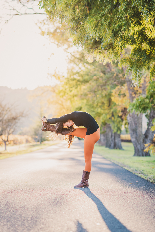 Yoga in Napa // Standing Single Leg Forward Fold // Ashley Petersen Photo