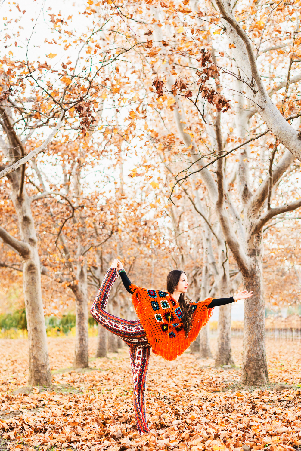 Yoga in Napa in Fall // Dancers Pose // Ashley Petersen Photo