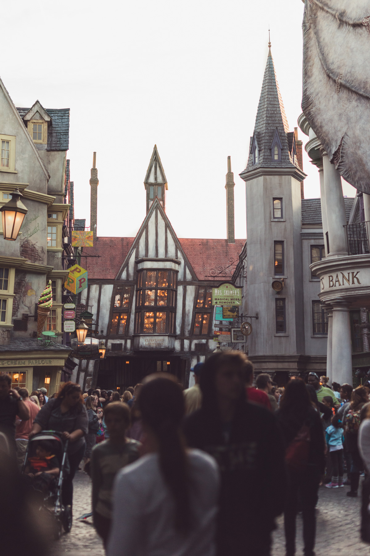 Conduct spells to turn on lights at the Wizarding World of Harry Potter