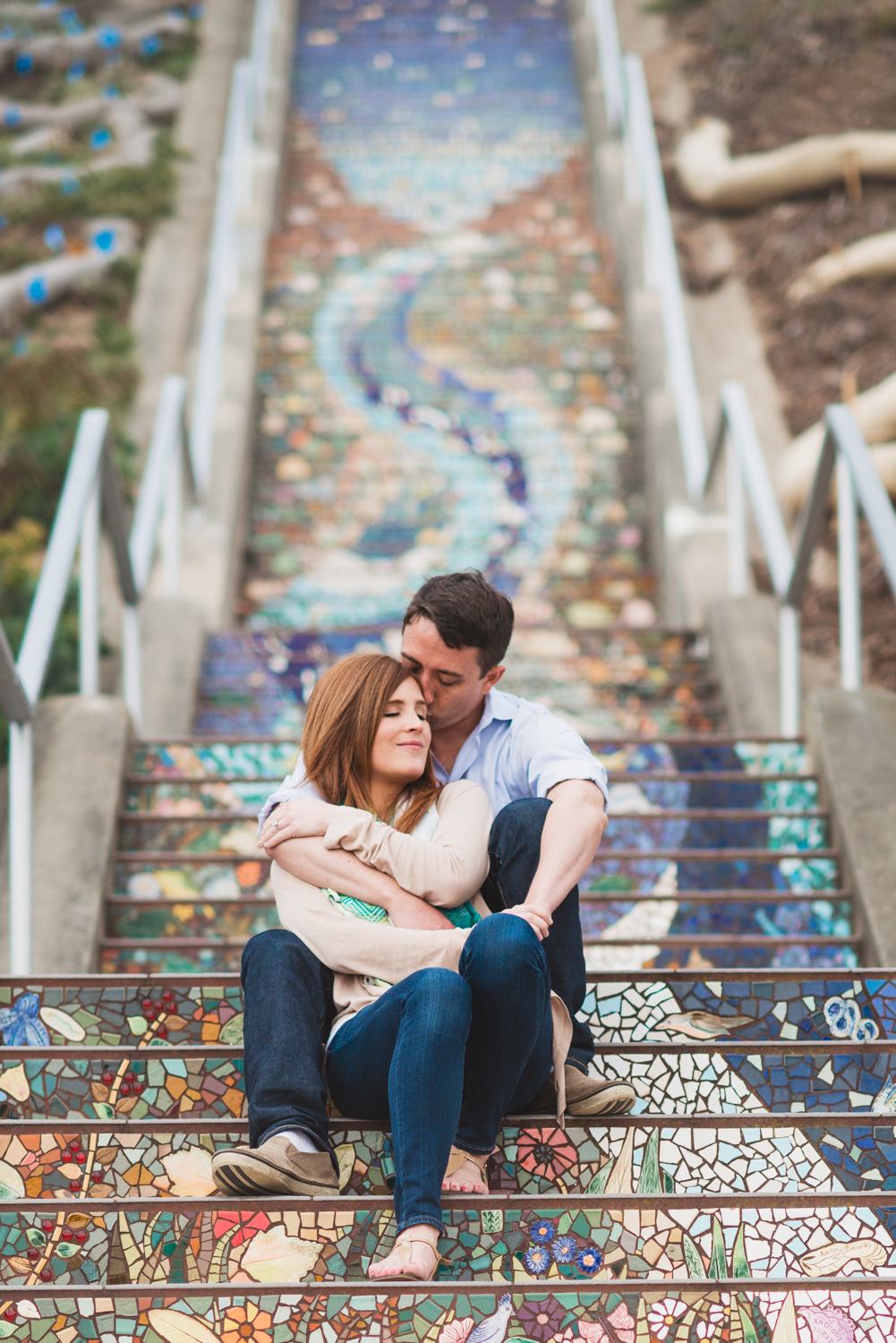 Mosai  c Stairs // San Francisco Engagement // Ashley Petersen Photography