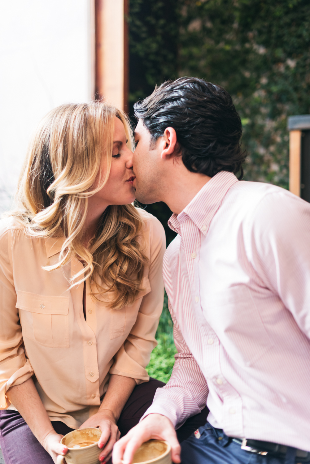 Coffee Shop Engagement //   San Francisco // Ashley Petersen Photography