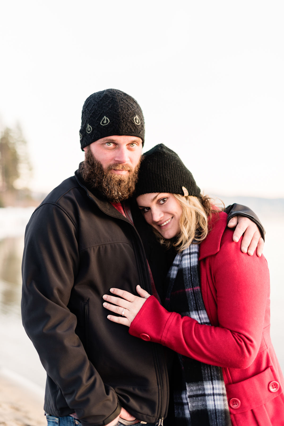 Lake Tahoe Snow Engagement // Portrait of Justin and Ashley