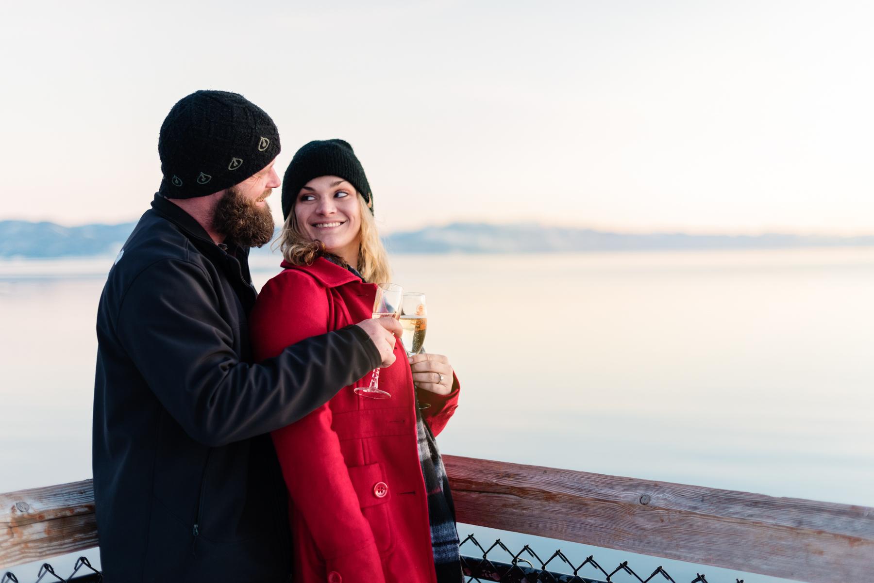 Lake Tahoe Snow Engagement