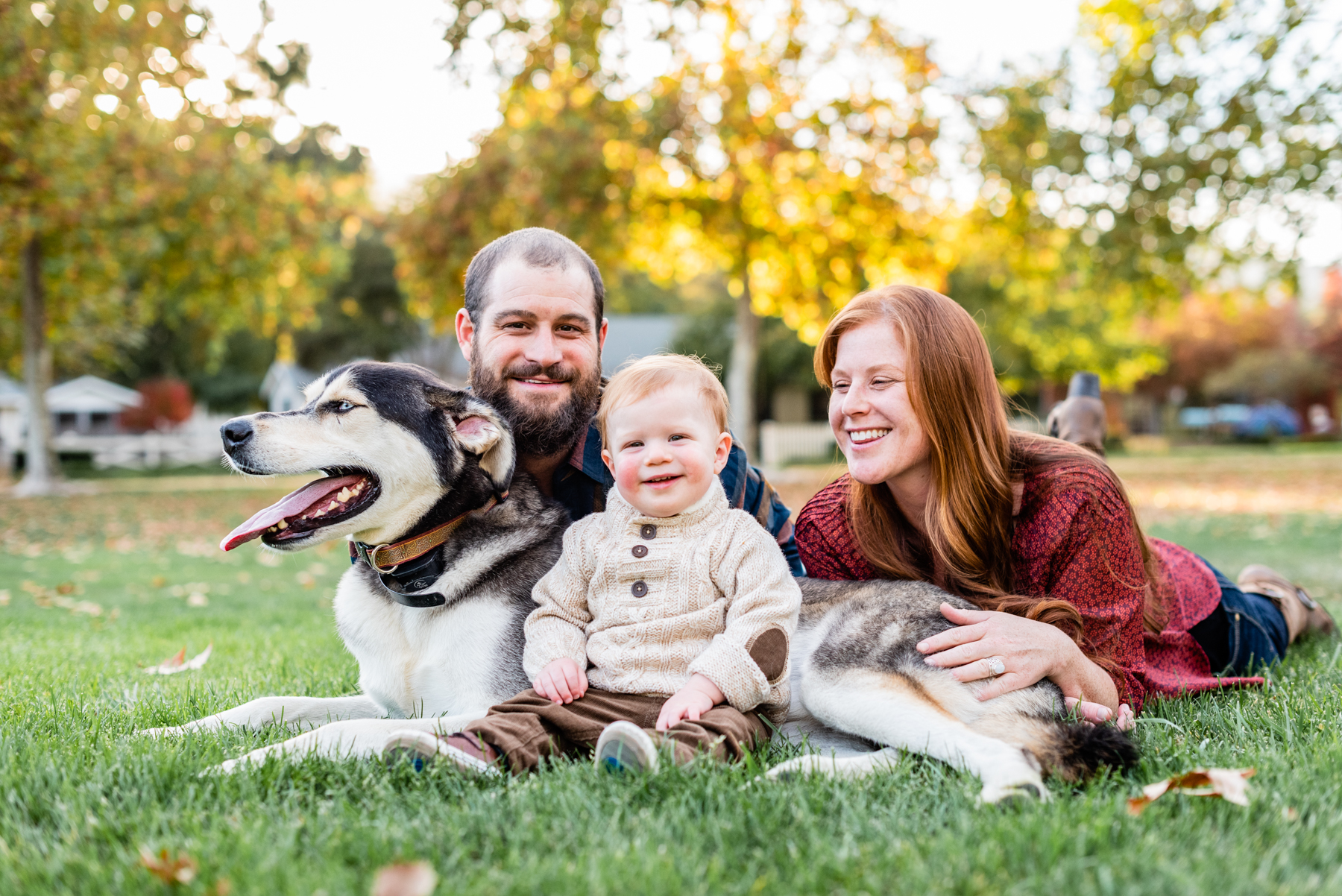 Their family portrait taken at Hap Magee Park in Danville, CA included their dog, Mojo.