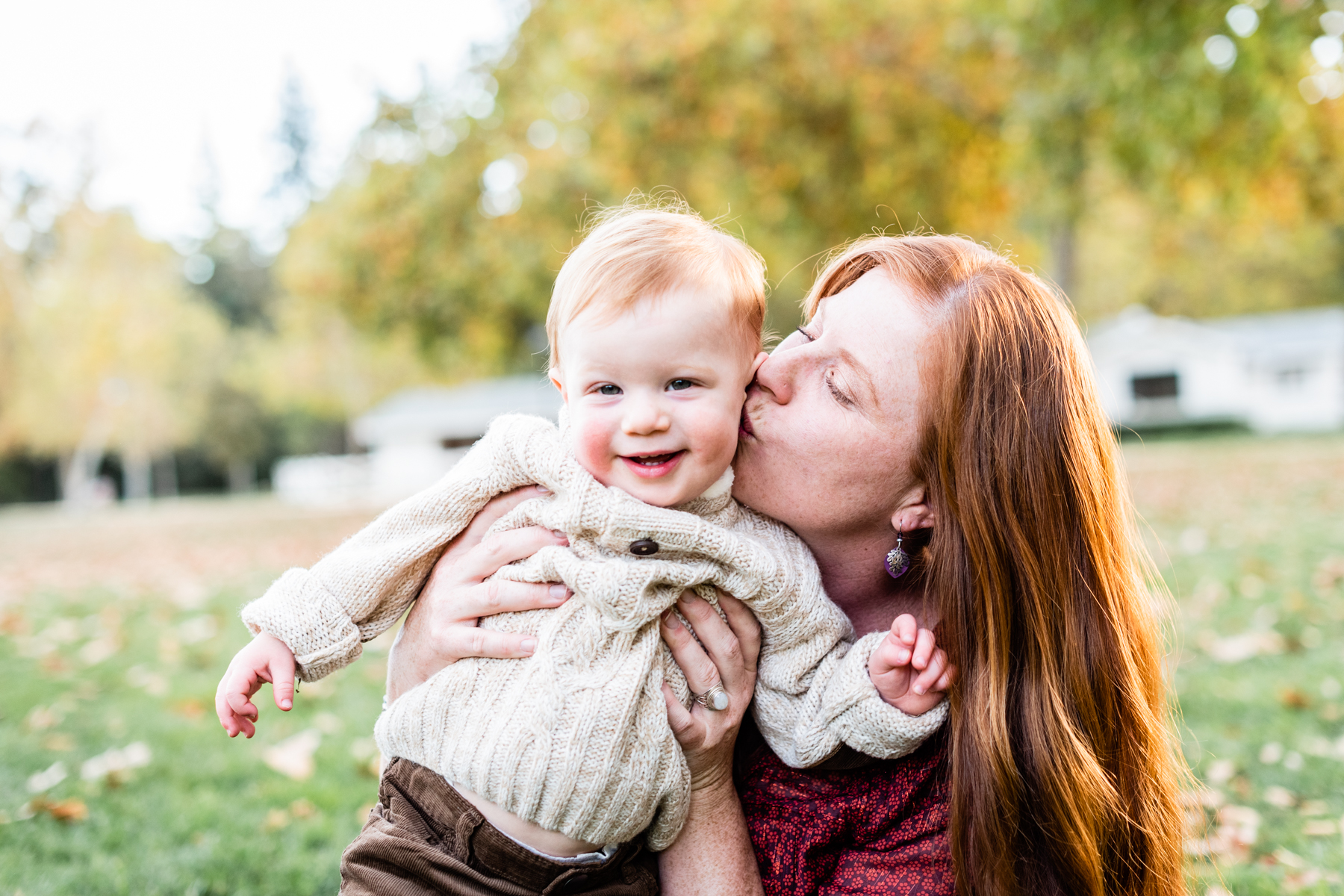 Mother and son lifestyle portrait session at Hap Magee Park