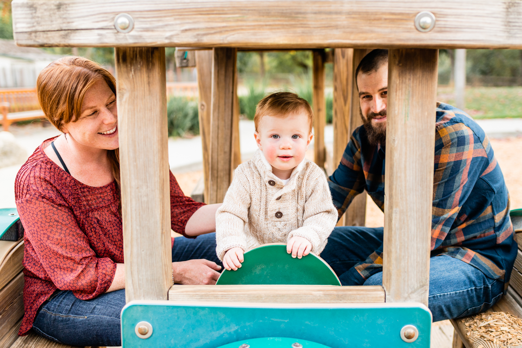 Family lifestyle portrait at Hap Magee Park