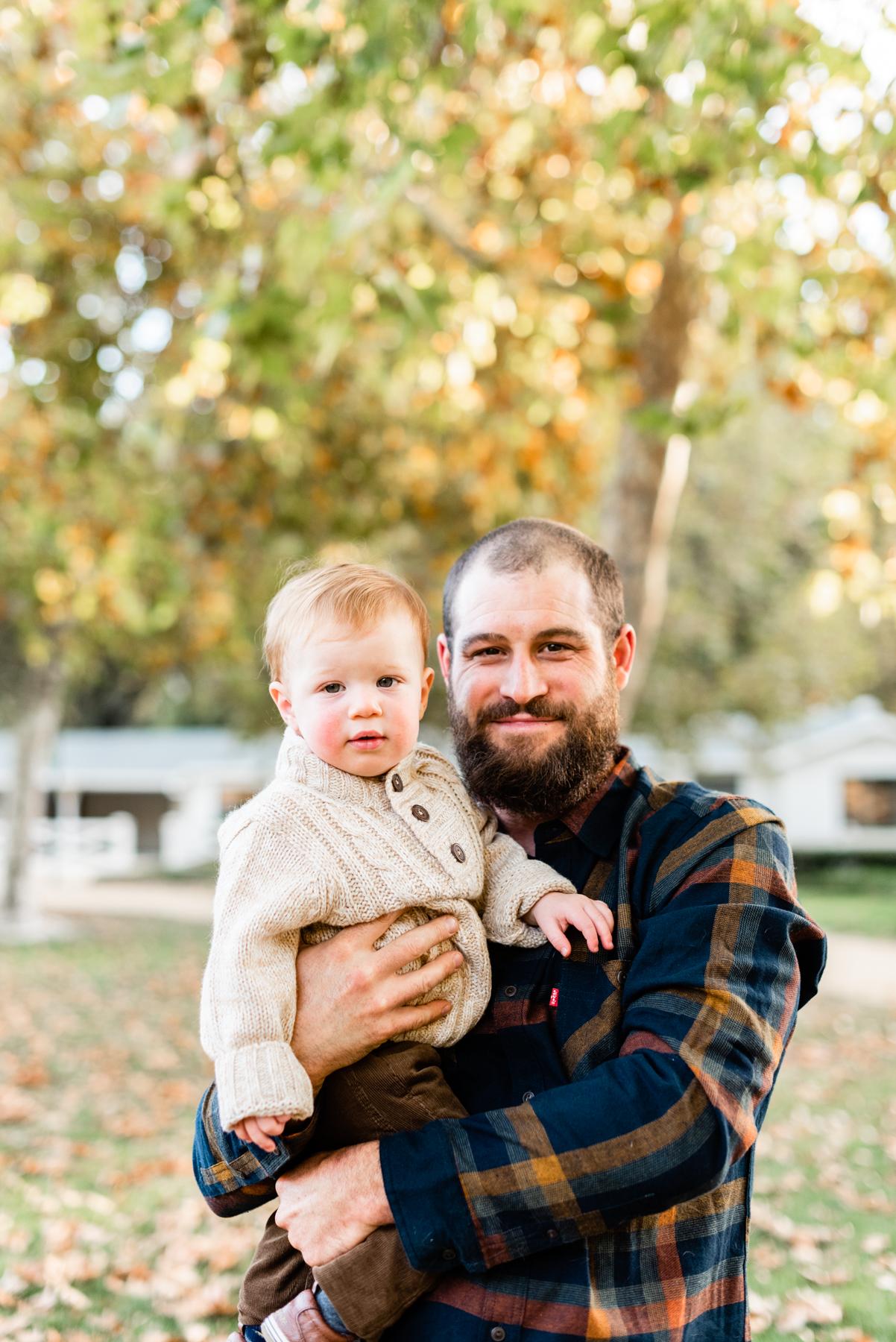 Father and son portrait in Danville, CA.