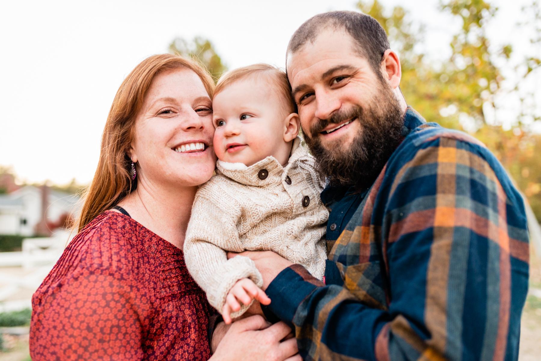 Family portrait at Hap Magee Park.