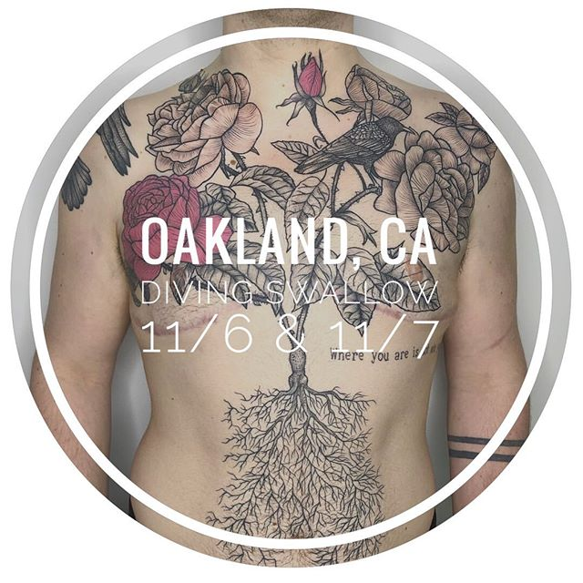 """I'll be back to see my friends @divingswallowtattoo in Oakland, CA on 11/6 & 11/7. I am looking only to do two large 4-5 hour tattoos starting at noon. This could be a half sleeve, thigh piece (around 8""""x10""""), or something of similar size on your back or leg. Please put in your request at em16.com/booksf (link in my profile) . . . . . #tattoo #tattooart #art #lines #linework #finelines #artist #blacktattooart #tattooartist  #drawing #dotwork  #tattoos #tattooed #tats #blackwork #ink #btattooing #woodcuttattoos #instatattoo #inked #tinytattoo #blackworkerssubmission #blacktattooart #btattooing #qttr #veganink #darkartists #bodyart #nyctattoo #bayareatattoo #bayarea #sftattoo"""