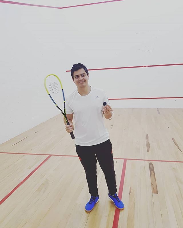 New hobby why not #squash #toughbutfun✌💪
