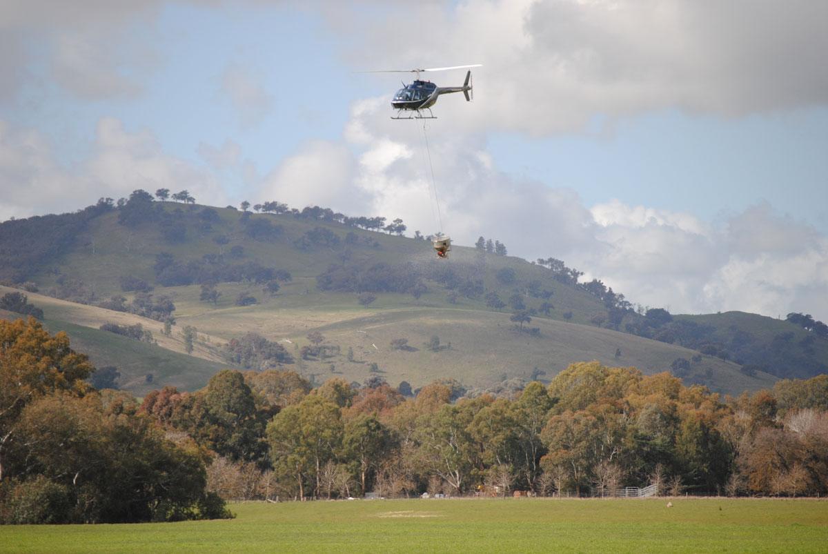 Helicopter Fertiliser Application Indigo Valley Victoria
