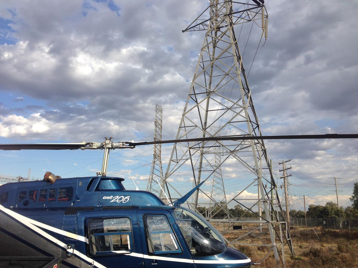 Helicopter Powerline Patrolling, Victoria