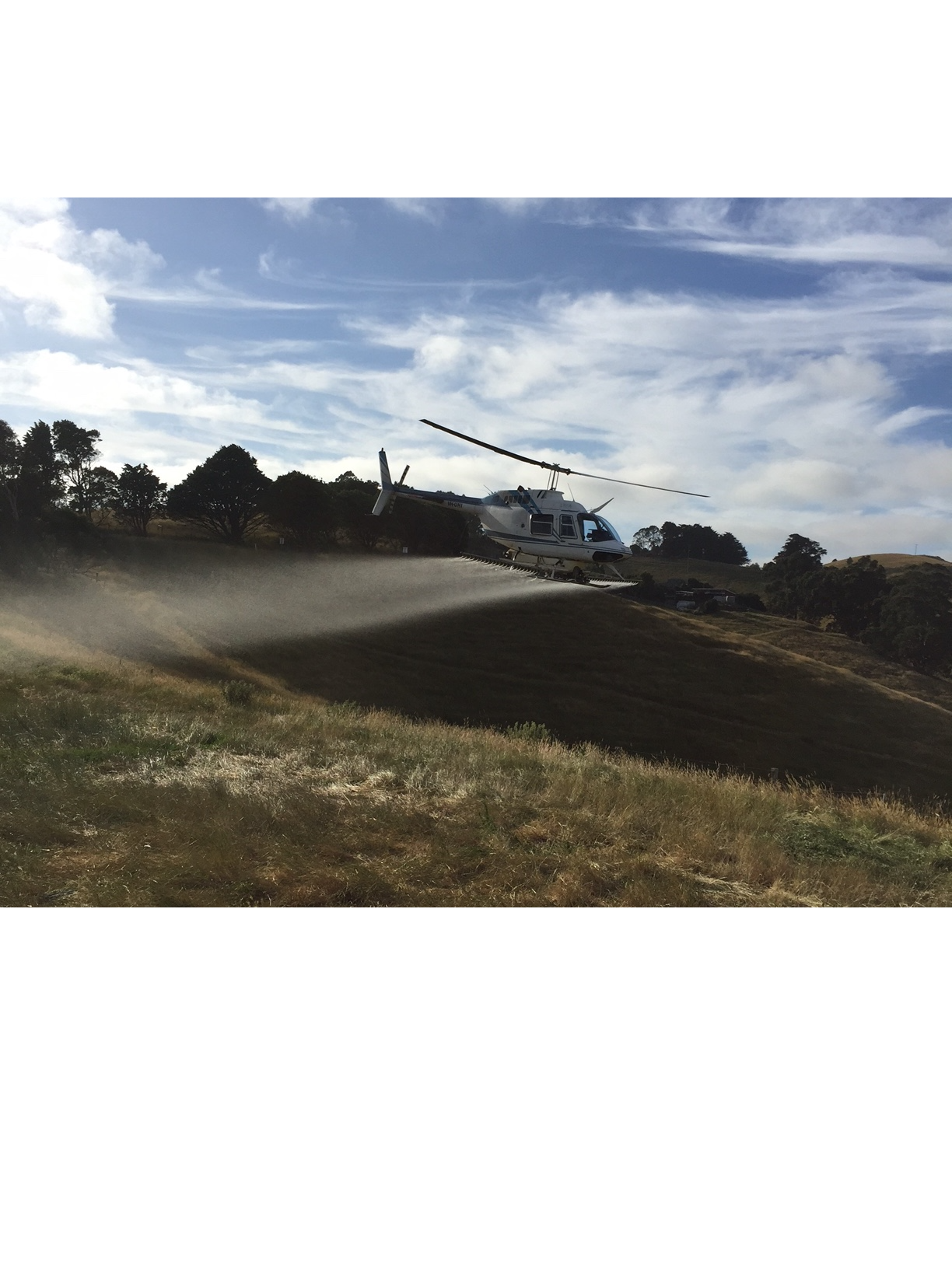 Helicopter Spraying, South Gippsland Vic