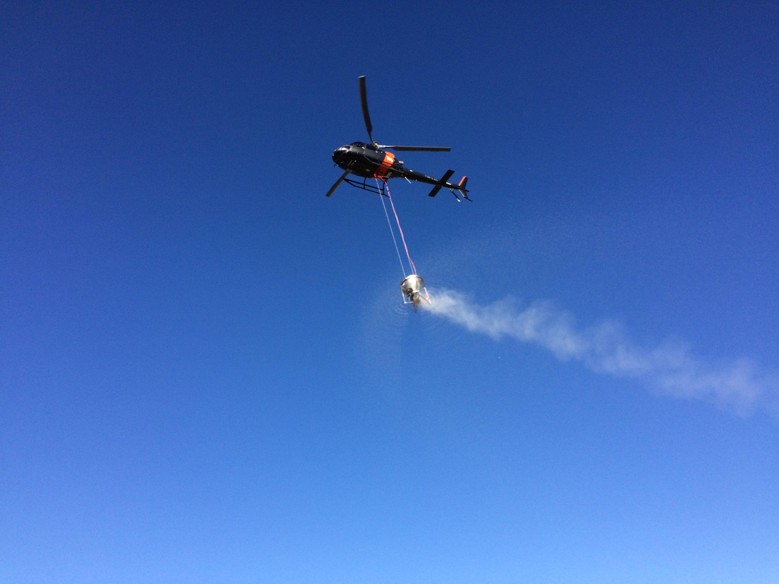 Helicopter Fertiliser Application