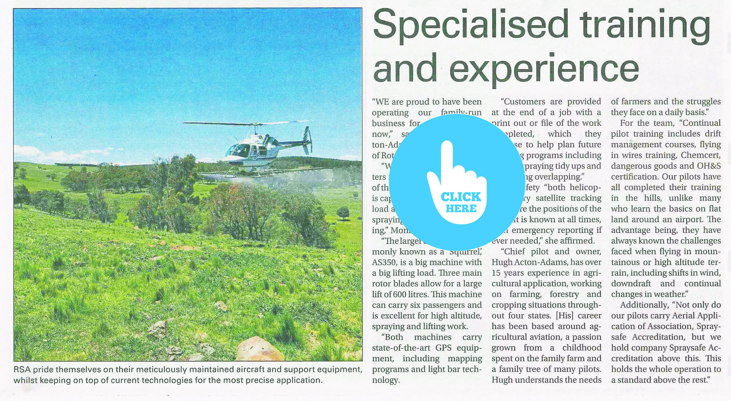 "Specialist Training and Experience"" - 11th February 2019 - Town and Country Magazine"