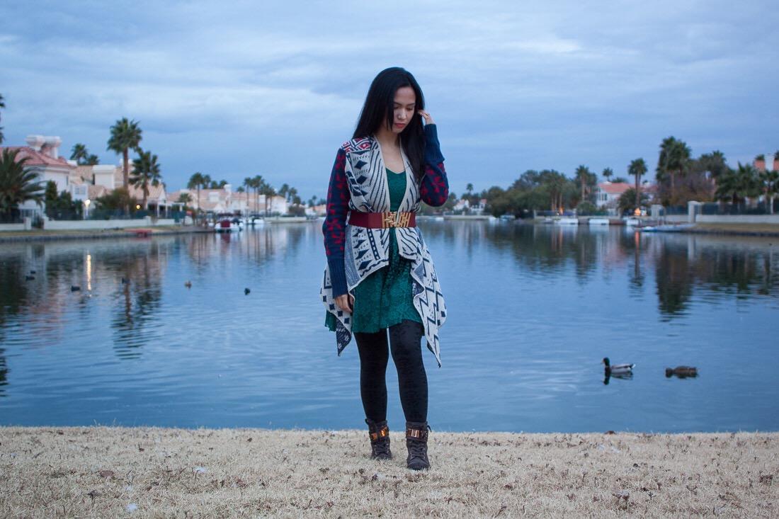 Dress //  Free People ;Sweater // Francesca's