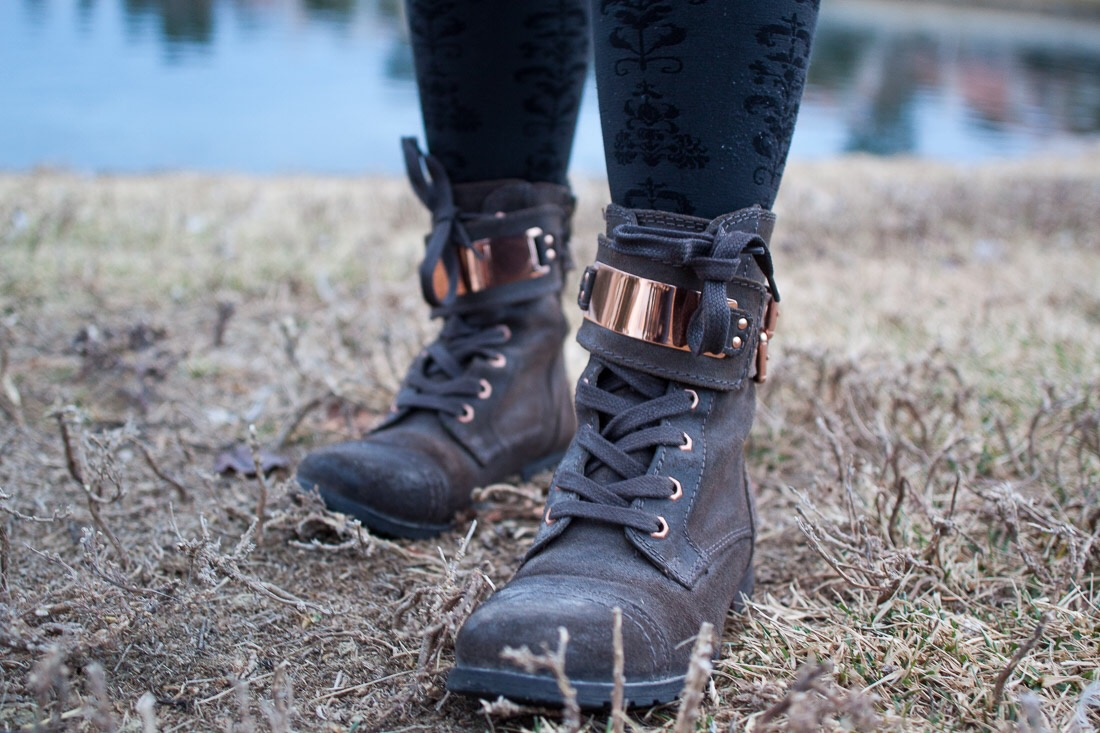 Tights // Walmart (if you can believe that!) ; Boots //  Steve Madden