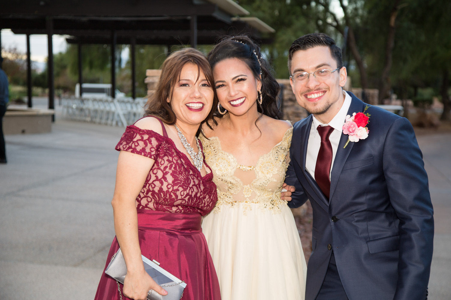 Yanet, Me and Gedalya after our wedding <3