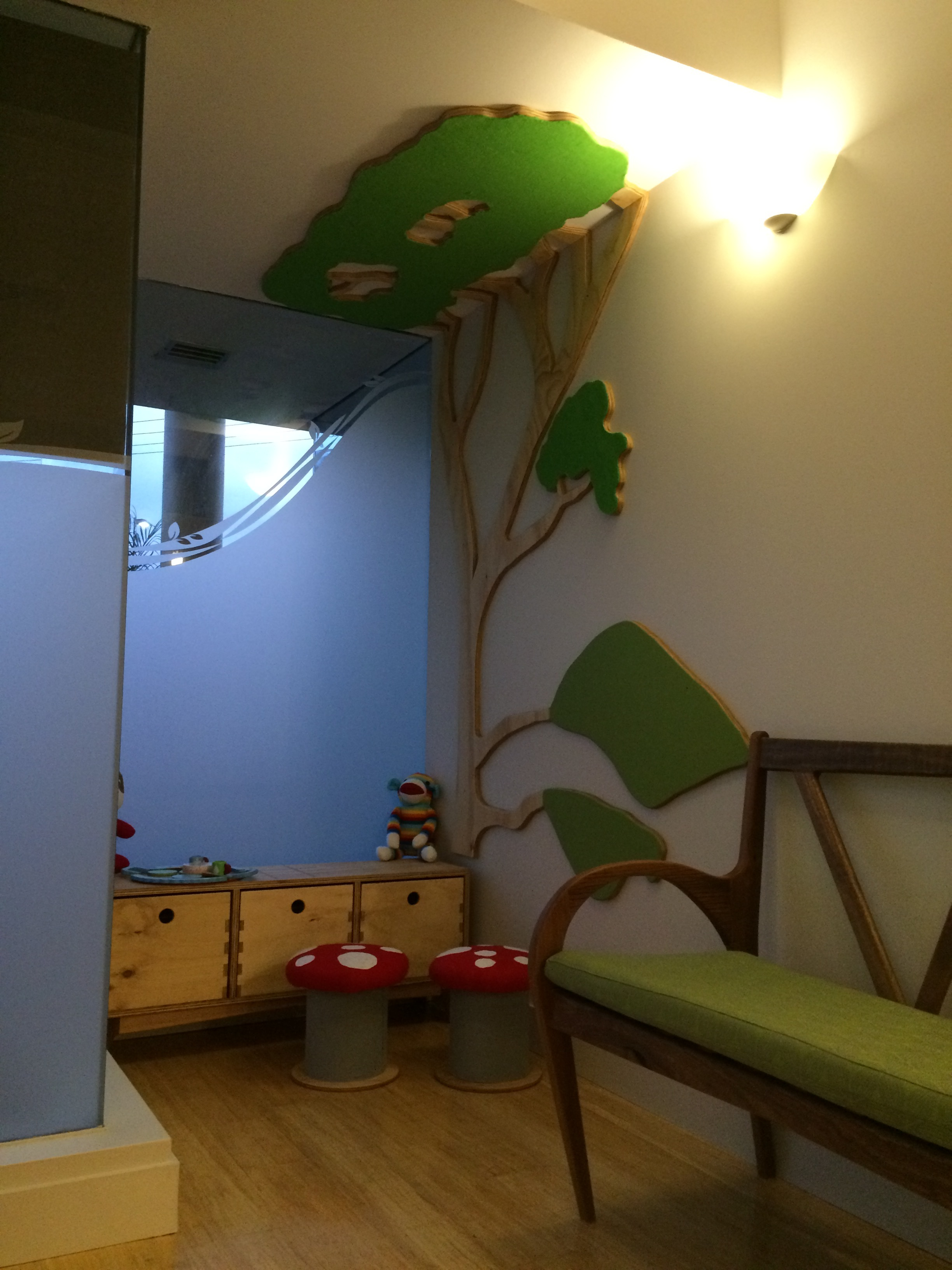 Childs area to keep them busy while waiting.