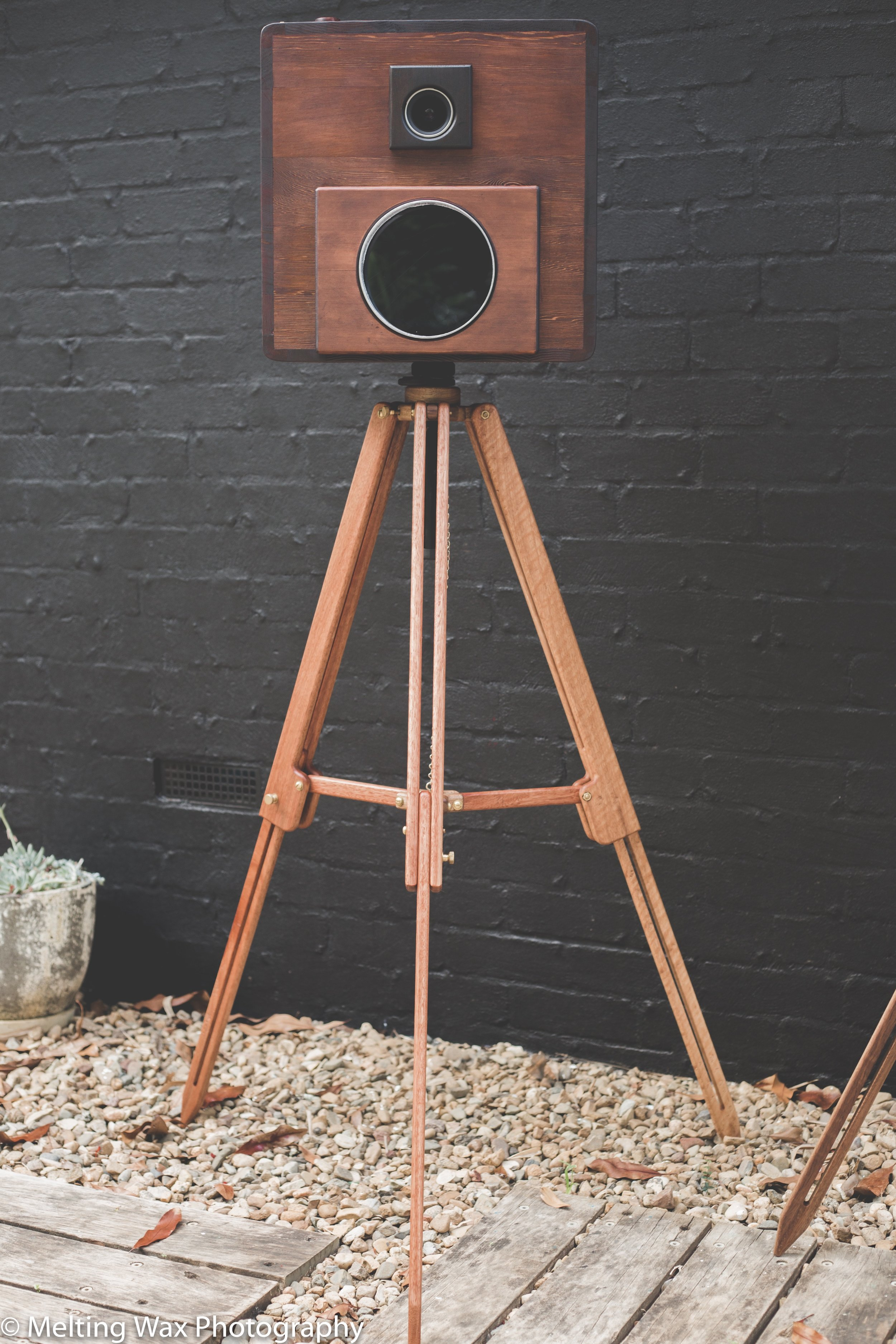 Photobooth designed and made by Leaf Handcrafted Furniture