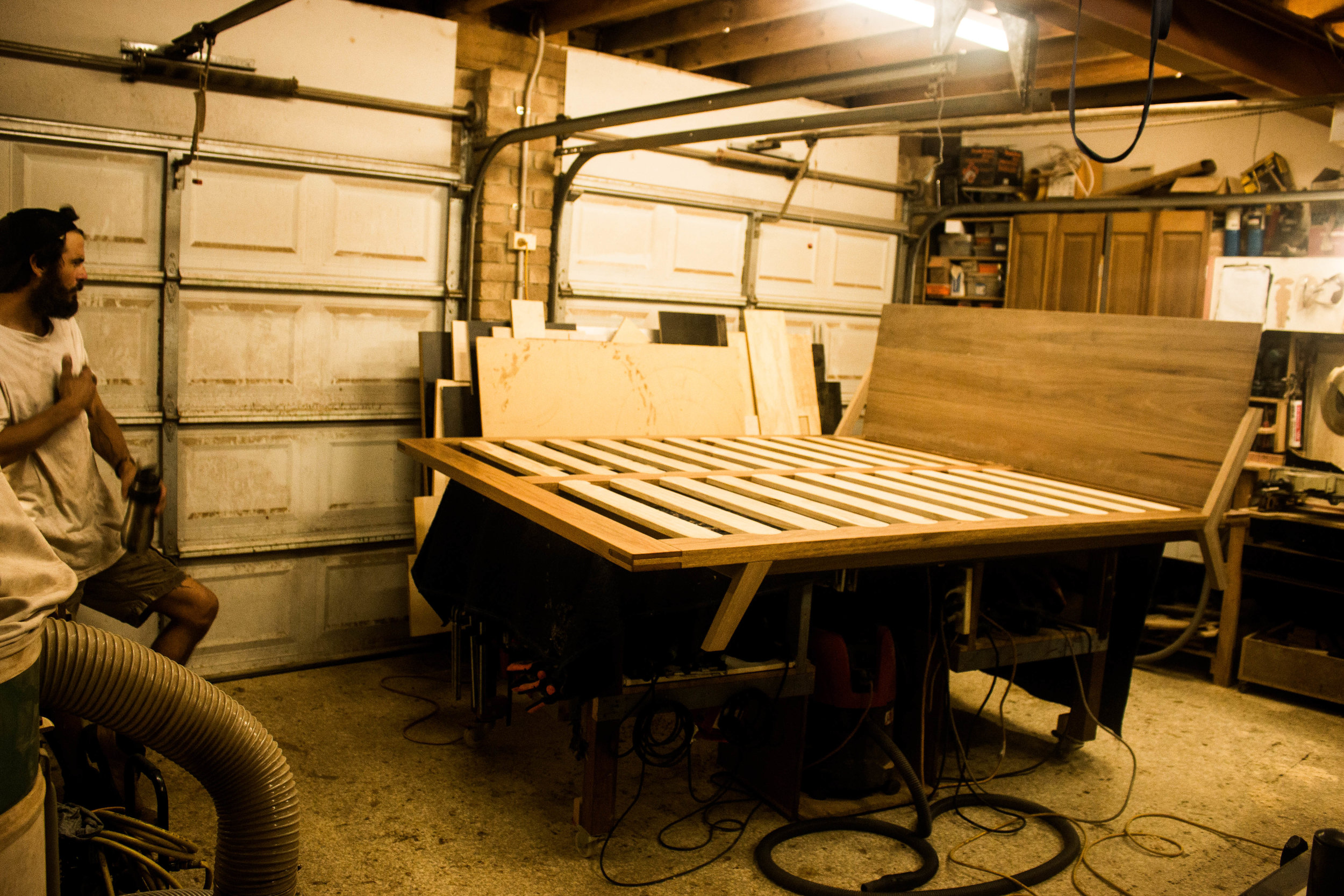 MM BED in the making by leaf handcrafted furniture