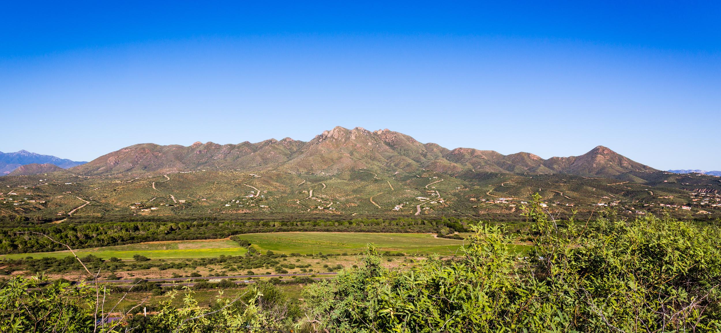 My home: the San Cayetano Mountains over Rio Rico.