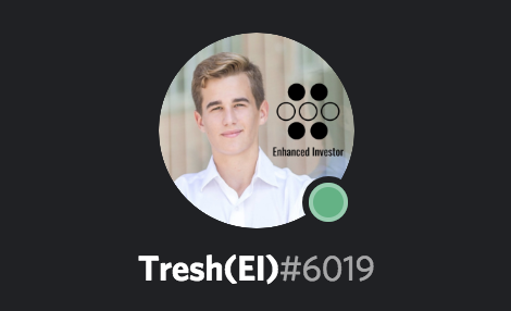 Moderator/Marketer   Tresh is only 18, but has three years of trading experience under his belt already. What began as a hobby became a potential career path for him. He focuses on high probability options trades using implied volatility and standard deviations. Tresh talks trade ideas with our members and answers any questions they might have as well as being a key member of our marketing team.