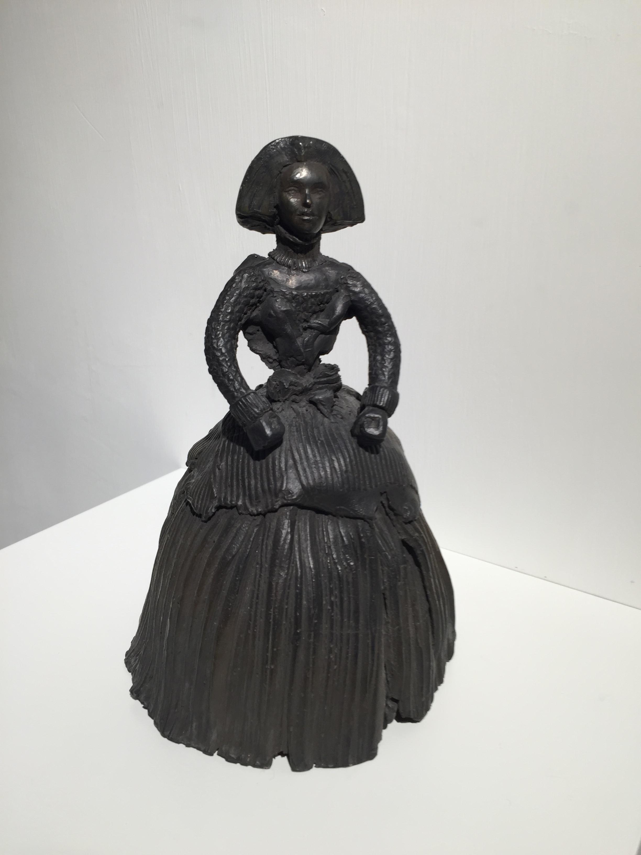 宮女,13 x 20 厘米,銅像
