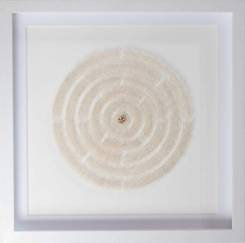 單色的蒲公英 #3    50 x 50  x 6 厘米