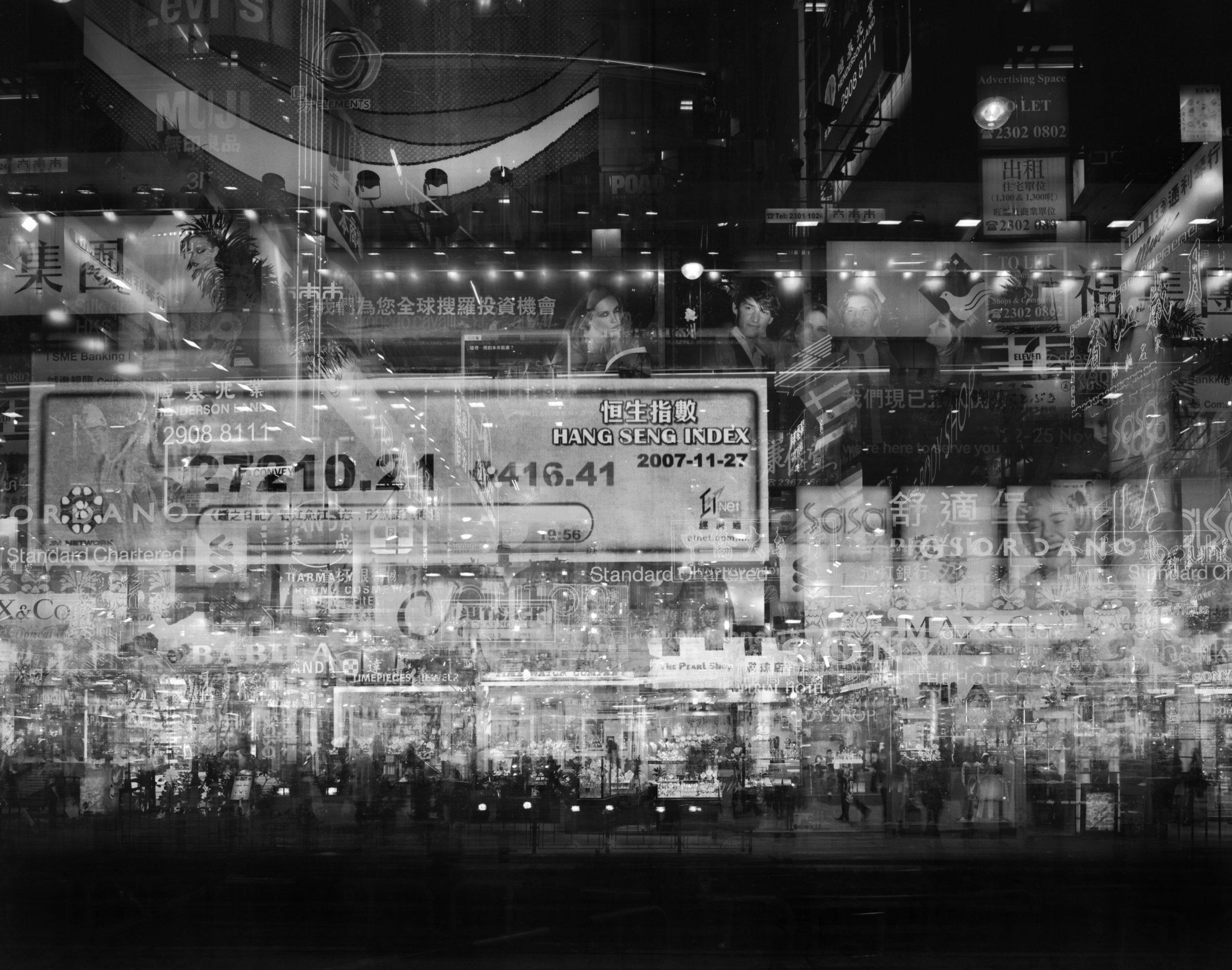 尹子聰 ,《香港,彌敦道 V》 ,2008,70 X 90 厘米,銀鹽照片