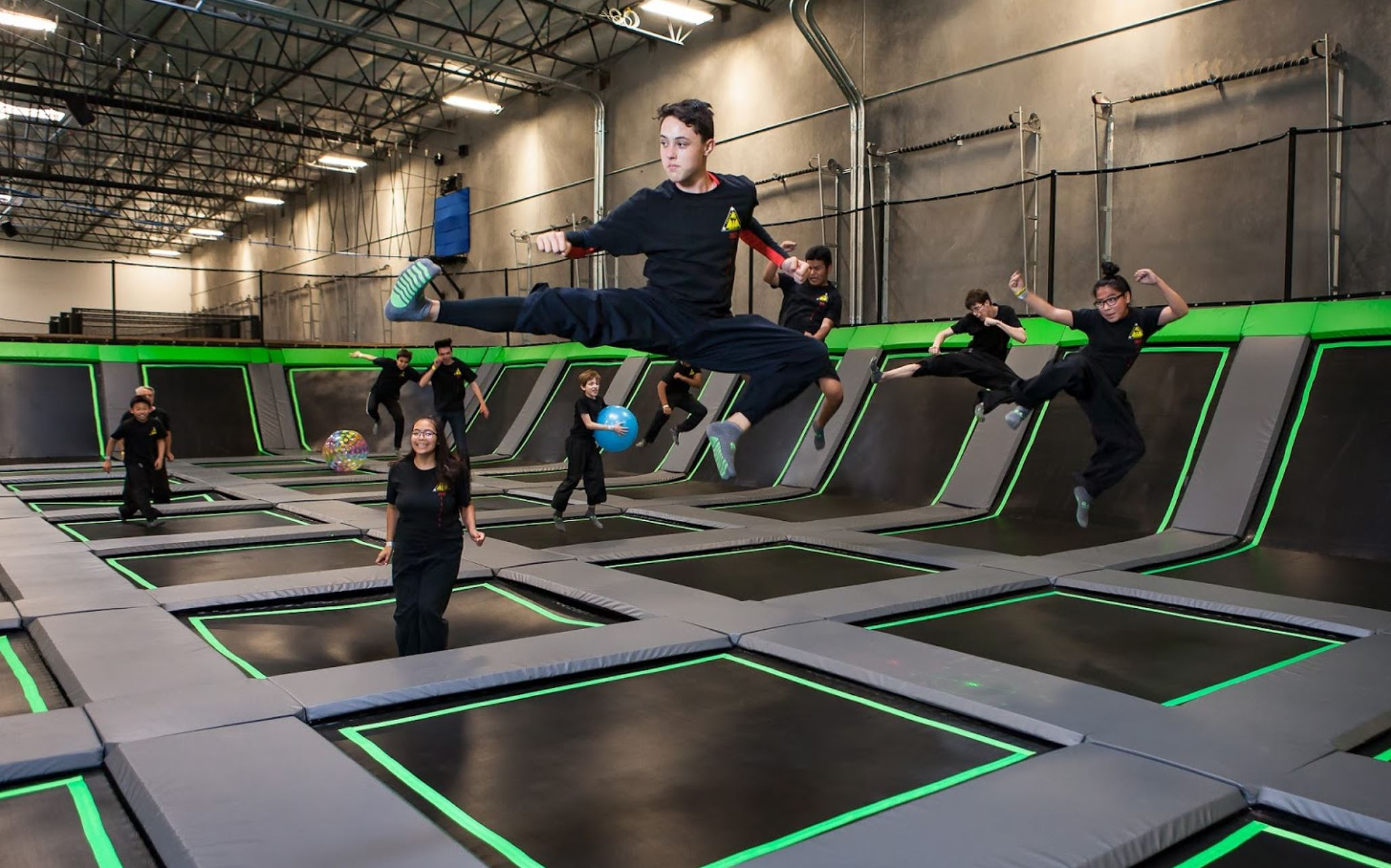 PURPOSE BUILT FOR - TRAMPOLINE PARKS