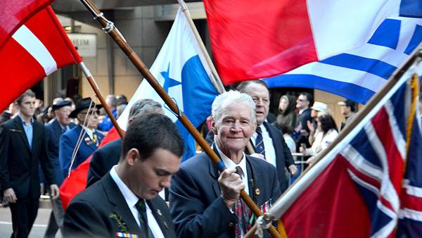 Veteran marching at the ANZAC Parade