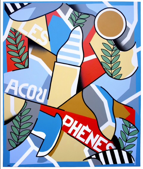 Les Acouphènes, acrylic on canvas, 100 x 120cm, 2018
