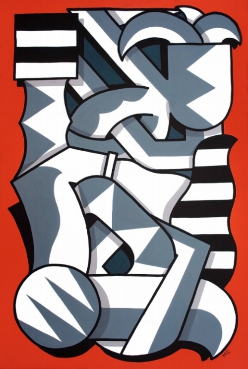 Pione, Guache on canvas, 80 x 120cm, 2018
