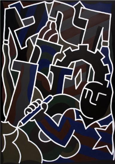 Untilted Acrylic on canvas, 81 x 116cm, 2017